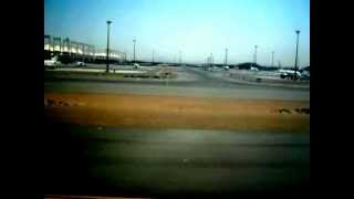 Landing at King Abdul Aziz Airport  Jeddah Saudi Arabian Airline Boing 777 from Karachi