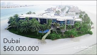 Inside a $60 Million Dubai Mega Mansion! - Palm Jumeirah Island Villa