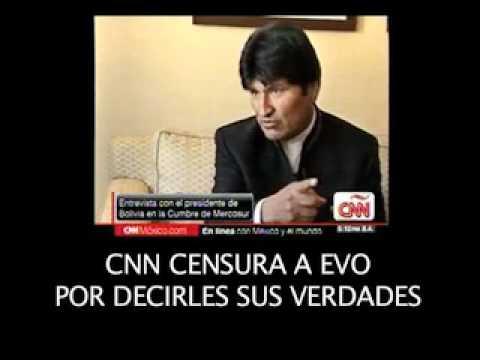 CNN CENSURA A EVO MORALES POR DECIRLES SUS VERDADES!!!
