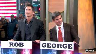 Rob Lowe Battles George Stephanopoulos in Presidential Trivia on 'Good Morning America'