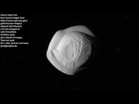 2017-03-08 Saturn moon Pan timelapse from raw Cassini images