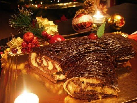Tronco de Navidad de nata y turrón (sin lactosa) - Recetas de Navidad / Christmas cake roll
