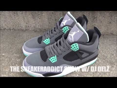Air Jordan Green Glow 4 IV Shoe Review + On Feet W/ @DjDelz Dj Delz The Sneaker Addict