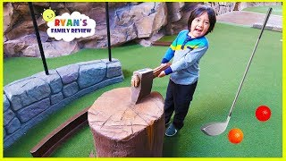 Ryan's first time playing putt-putt mini golf with mommy and daddy!