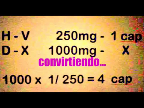 Cálculo para dosificación de medicamentos