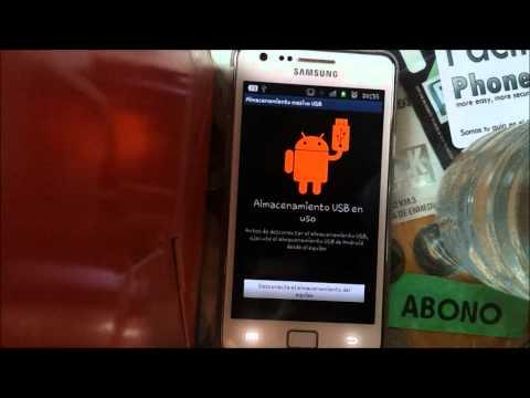 Tutorial como poder pasar las fotos de un Samsung Galaxy S 2 a un ordenador.