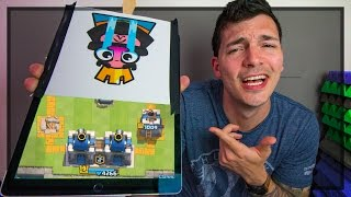 COVER THE SCREEN 2v2 Nick & Molt Challenge - Clash Royale