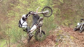 KTM EXC 250 Hill Climb Big Air Crash