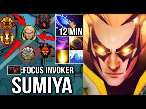 EPIC SumiYa Invoker God Getting Out of Control Brutal Combo Cataclysm 7.07 Dota 2