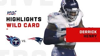 Derrick Henry Dethrones the Pats w/ 205 Total Yds | NFL 2019 Highlights