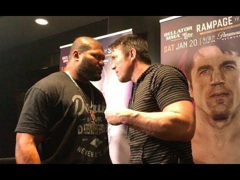 Chael Sonnen vs. Rampage Jackson Bellator 192 Staredown - MMA Fighting
