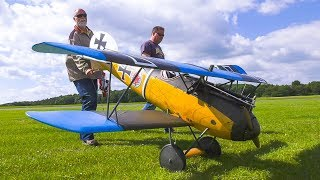 RC MODEL BIPLANE FOKKER D5 WITH AMAZING ENGINE SOUND IN FLIGHT DEMO!! *RC AIRPLANE*