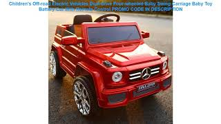 Promo Children's Off-road Electric Vehicles Dual-drive Four-wheeled Baby Swing Carriage Baby Toy Ba