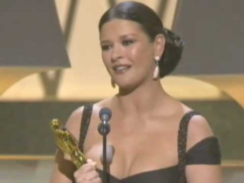 Catherine Zeta-Jones winning an Oscar®  for