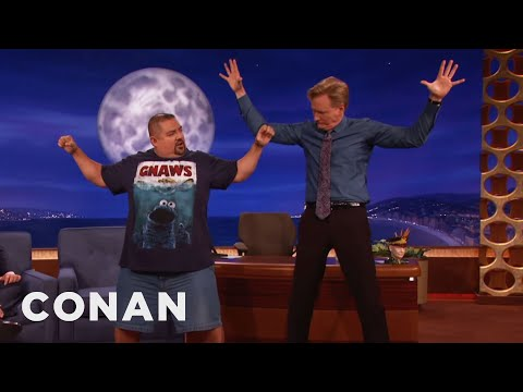 Gabriel Iglesias Teaches Conan Yoga video