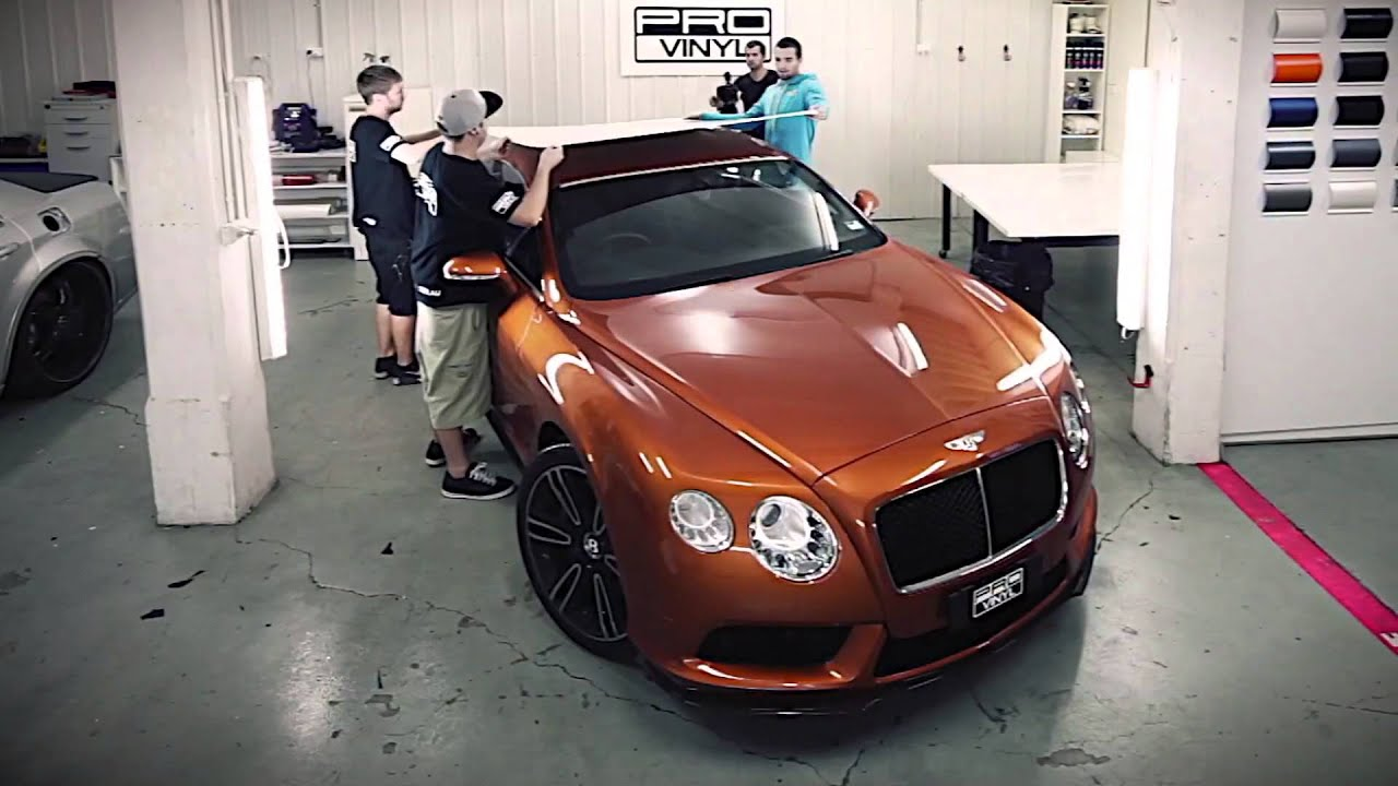 Bentley Continental Gt Wrapped In 3m Satin Pearl White By