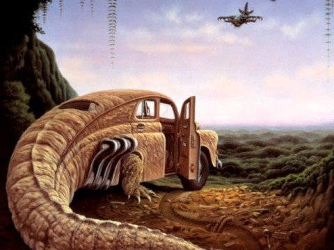 Jacek Yerka   -   Dreaming  Surrealism