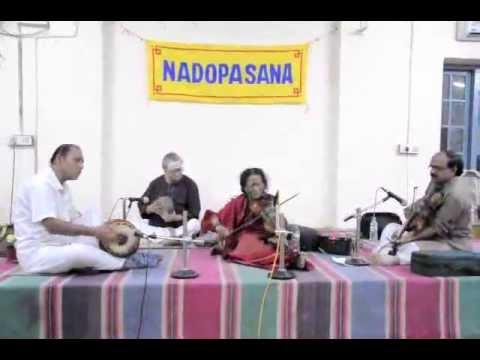 NADOPASANA MUSIC TRUST - Ms. Dwaram Mangathayaru - Violin Solo