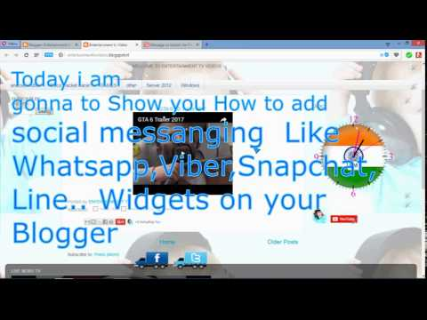 How To Add Whatsapp,facebook Messenger ,viber, Line... Gadgets On BLogger