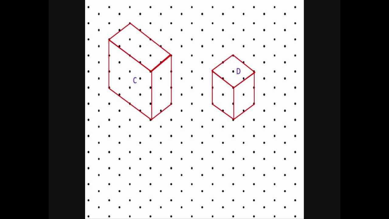 Isometric Dot Drawings Drawing on Isometric Paper