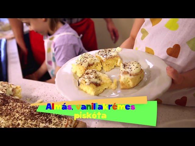 Gyerekjáték a főzés - Almás, vaníliakrémes piskóta