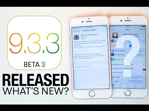 iOS 9.3.3 Beta 3 Released & iOS 10/9.3.2 Jailbreak Update