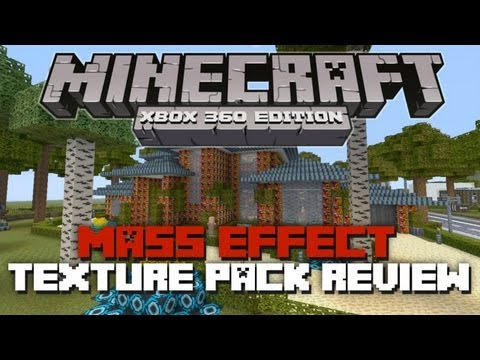 Minecraft Xbox 360: Mass Effect Texture Pack Review! (First Mash-Up Pack DLC)