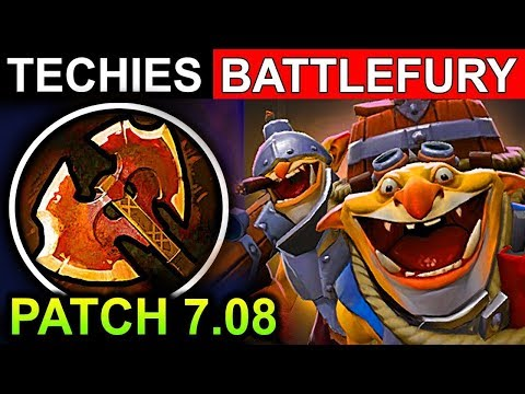 TECHIES BATTLEFURY PATCH 7.08 DOTA 2 NEW META GAMEPLAY #11 (CARRY TECHIES DOTA 2 FUNNY MOMENTS)