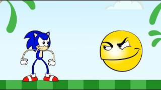 Pacman vs Sonic Cartoon