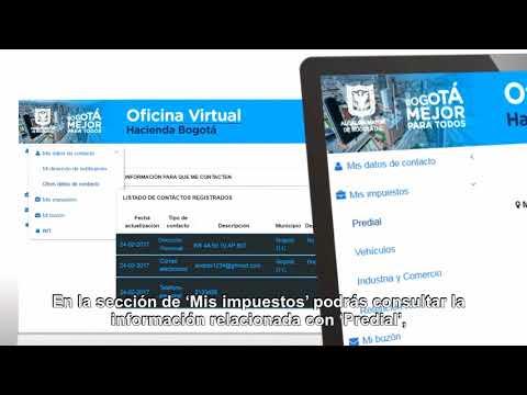 Bogotá cuenta con Oficina Virtual de impuestos