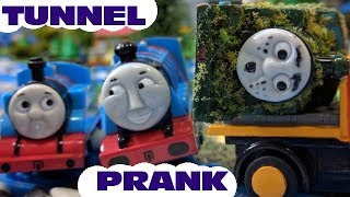 Thomas & Friends Tunnel Prank with Tom Moss Trailer -  Capsule Train Toys  for kids and children