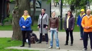 Falun Dafa / Falun Gong continuă să iasă în stradă