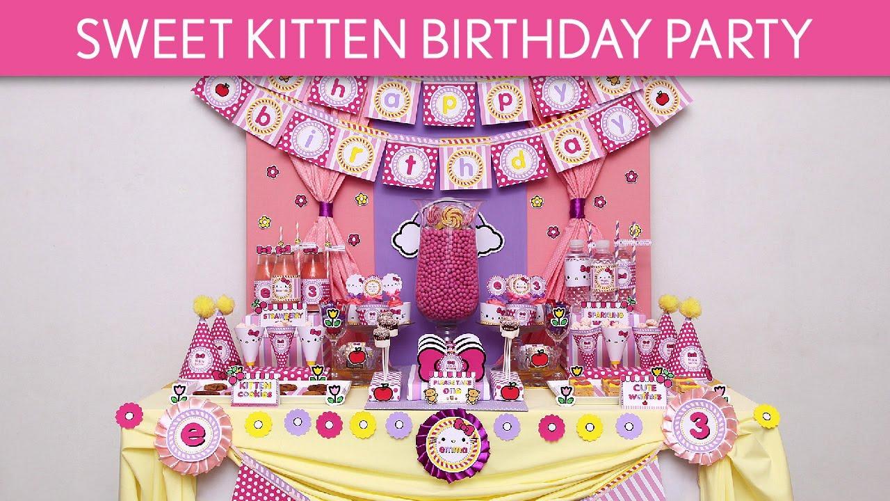 Kittens Birthday Party Sweet Kitten Birthday Party