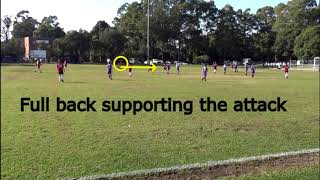 Game analysis Under 13's team Grmfc NPL2 youth league nsw