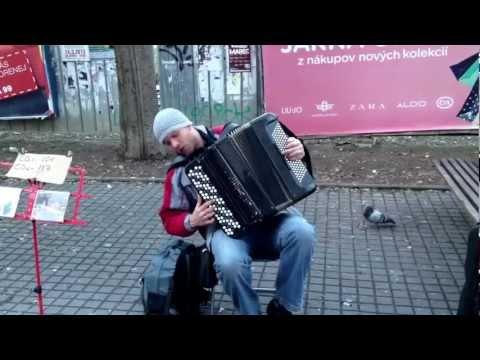 Zaujímavý Ukrajinskej Umelec V Bratislave Hra Na Harmoniku :) Ak Maestro