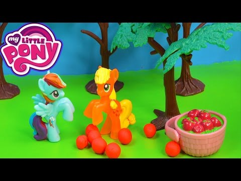 MLP Rainbow Dash Applejack Stolen Apples Fight My Little Pony Playing Video Cookieswirlc