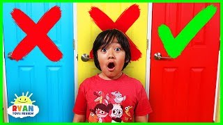 Don't Choose the Wrong Door Challenge with Ryan Nickelodeon Version !!!