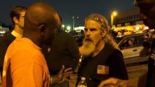 Veteran confronts protesters stomping on the American flag (long version)