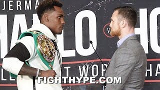 JERMALL CHARLO STARES DOWN DENNIS HOGAN LIKE A LION ON THE HUNT; FIRST OFFICIAL FACE OFF