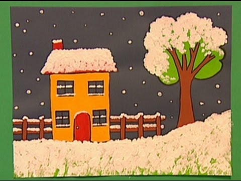Mister Maker Christmas Make - How to Make a Winter Snow Picture