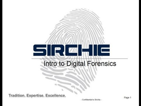 "Sirchie's ""An Introduction to Digital Forensics"" Webinar - 9 11 13"