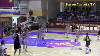 UI18 - REAL MADRID vs. STELLAZZURRA BASKETBALL ROMA.- Final AdidasNGT Madrid 2015 (BasketCantera.TV)