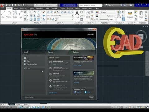 Learning Autocad 2013 Tutorial #1: Introduction.