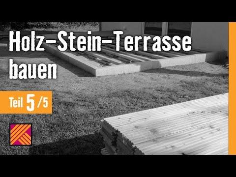 Holz-Stein-Terrasse Bauen - Kapitel 5 : Holz-Terrassendielen Verlegen | HORNBACH Meisterschmiede