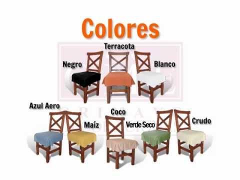 Funda de silla universal asiento youtube - Como hacer fundas para asientos de sillas ...