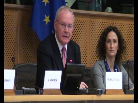 Martin McGuinness briefs EU leaders in Brussels