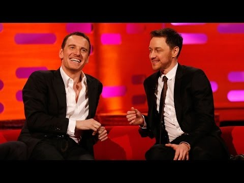 Michael Fassbender & James McAvoy's fan art romance - The Graham Norton Show - BBC