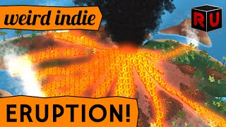 Be the Volcano and BURN EVERYONE! | Eruption game demo gameplay