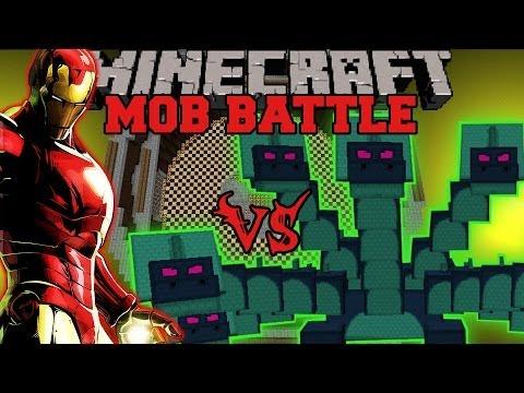 HYDRA VS IRON MAN - Minecraft Mod Battle - Mob Battles - Superheroes and Twilight Forest Mods