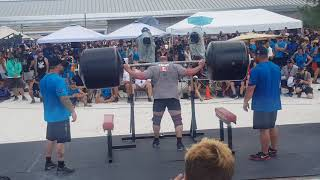 JF Caron - 340kg Squat for reps in the WSM 2019 Finals